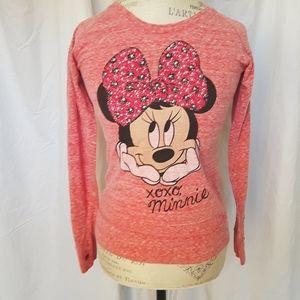Disney Minnie Mouse Pink Long Sleeve T-shirt XL